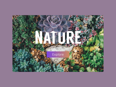 Nature-themed ultraviolet nature