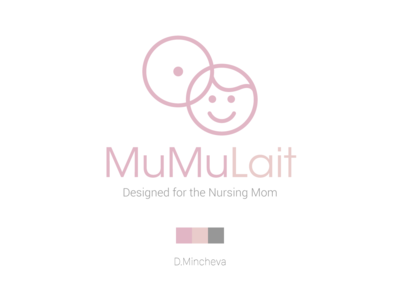 MuMuLait (draft) logo illustration graphic design design branding
