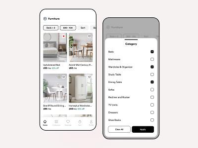 #2 🛋️ Rent a Furniture App rental renting app rentomojo ikea app design furniture app app clean interaction mobile iphone user experience ios interface design ux ui rent a furniture