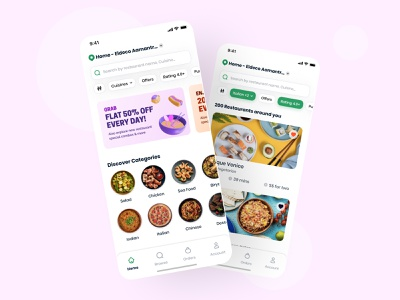 Food Delivery App foodie pizza food tracking food and drink uber eats delivery app appui minimal fooddelivery foodapp food delivery illustration app ios user experience interface design ux