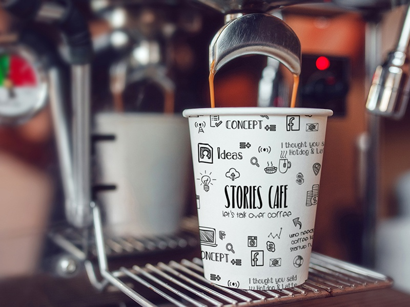 Stories Cafe - Branding coffee branding facebook icon logo concept idea packaging branding stories coffee cafe calligraphy