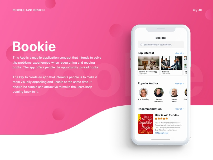 Bookie. IOS app for every book lover design animation adobexd freebie iphonex ios app concept book app book ux illustration typography free dashboard blogger android dating app uiux ui