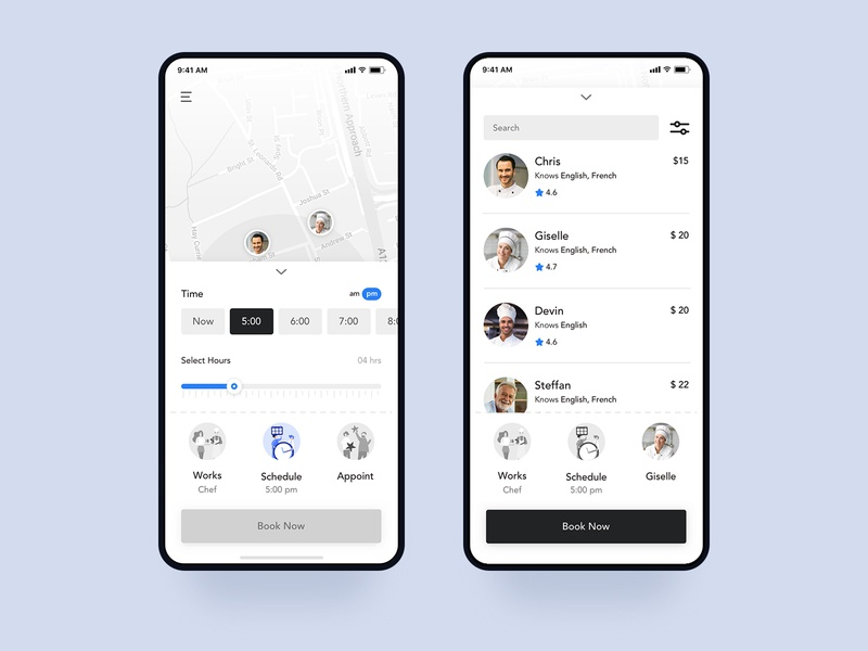 Uber Works | Schedule and Appoint online appointment scheduling schedule online appointment appointment app on-demand on-demand staffing uber uber partner ux ui uber works location light iphone ios interface inspiration design clean