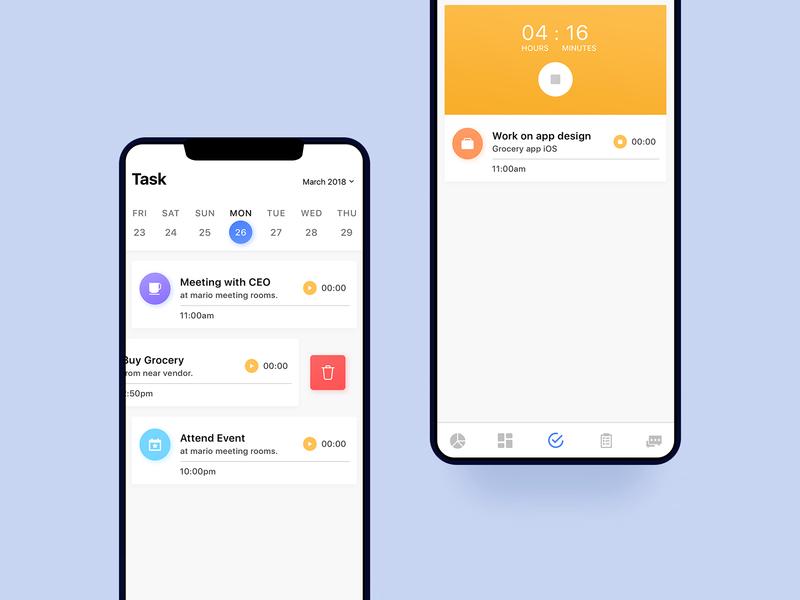 Task Manager UI Concept ios app concept gradient ux interface design interface ui ux design ui task list task manager task app task to do list