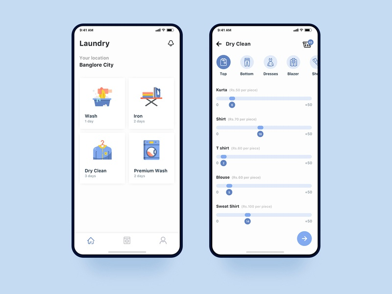 Uber for Laundry App Concept minimal uiux clean app design ux ui iphone cleaning service cleaning interaction interface ios uber design uber laundry