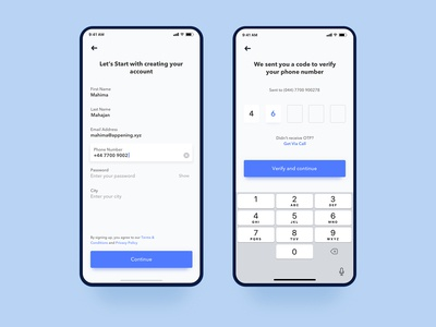 Uber Driver sign up concept