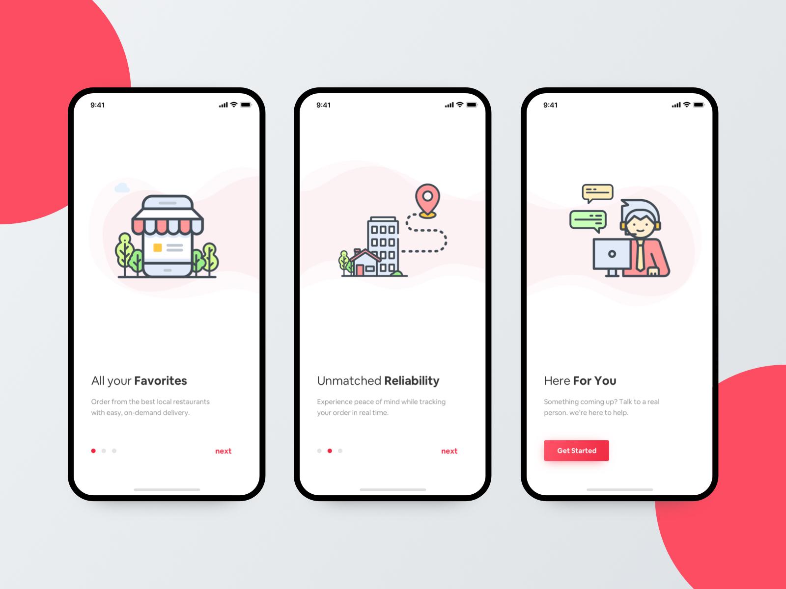 Uber Eats - Onboarding by Mahima - UI/UX Designer for