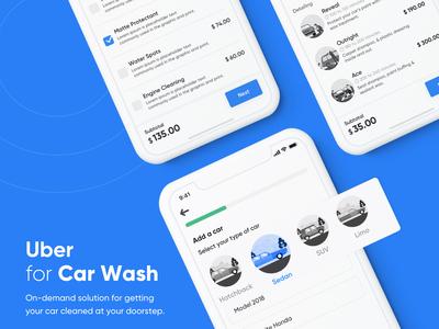 Uber for Car Wash l On-Demand Car Wash App