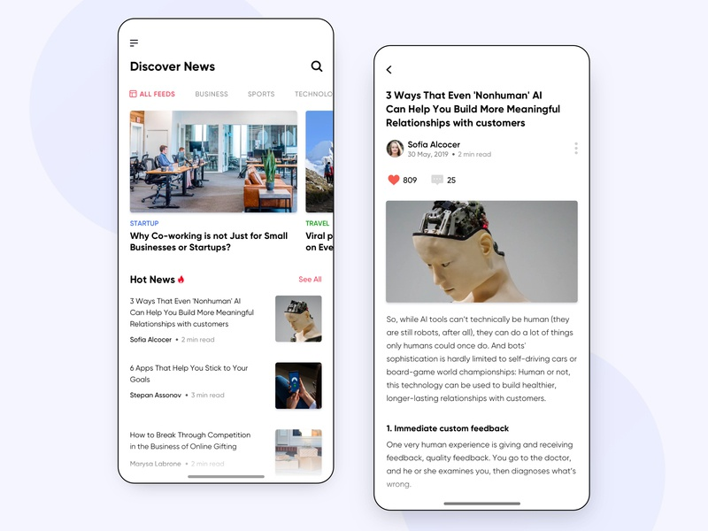 News App UI Concept app iphone reading app sketch typography startup business article user experience discover interfaces design app minimal interface ios ux ui design newsapp news