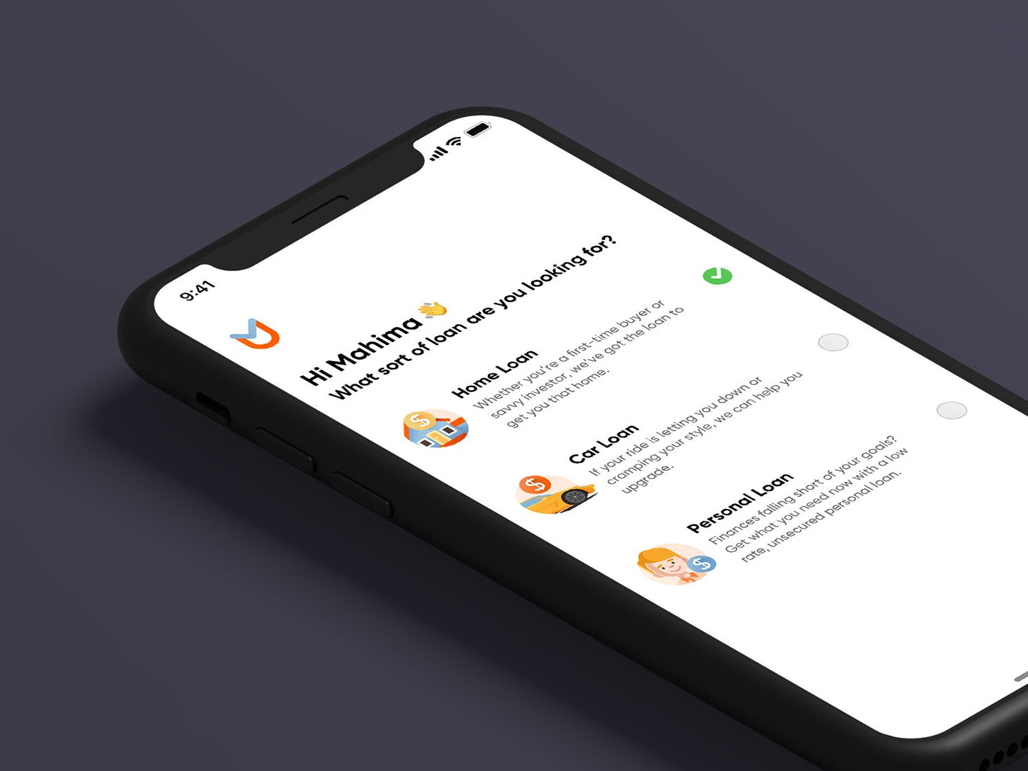 Finance Loan UI Concept bank loan financing banking credit card fintech clean mobile illustration user experience on-demand finance iphone app minimal design interface ios ux ui