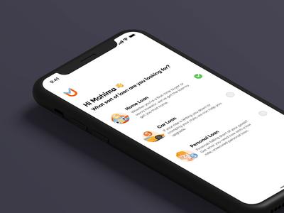 Finance Loan UI Concept