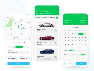 Self Drive Car Rental On-Demand mobile zoomcar ux ui national car rental avis date picker user experience enterprise ios time picker map iphone location lyft uber design app