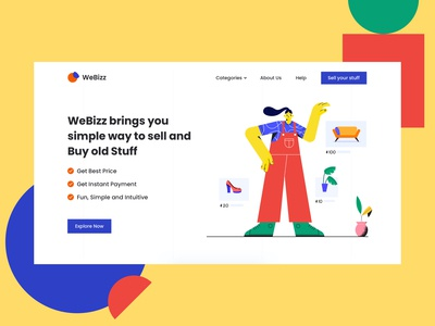 Homepage Hero Design - Sell and Buy Old Stuff
