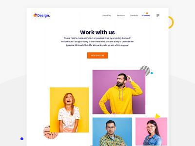 Careers Hero Design homepage minimal website design web design landing page interface design ui hero design studio hero design