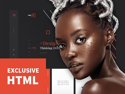 Nexout - Creative Ajax Portfolio Template design mobile responsive ltr rtl light dark html portfolio themeforest