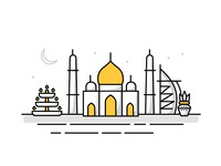 Middle East / India Landmark Icons