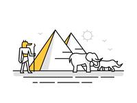 Africa / Egypt Landmark Icons