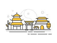 Asia Landmark Icons