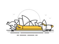 Australia / New Zealand Landmark Icons