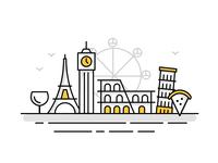 Europe Landmark Icons