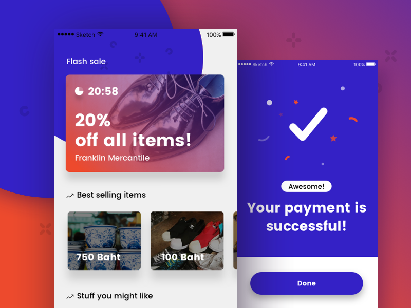 Flash Sale Payment card success successful buy pay sell flash e-commerce shop shopping payment sale