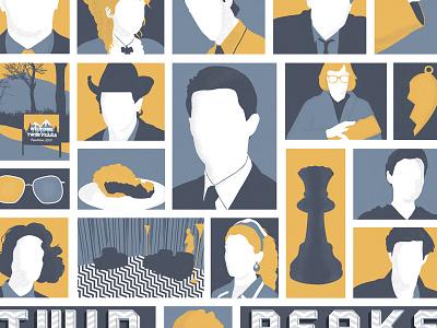 Twin Peaks twin peaks illustration print dale cooper tv