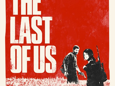 The Last Of Us poster print design sony ps3 fan art video games gaming minimal etsy