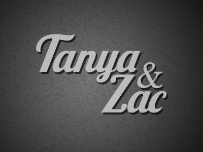 Tanya & Zac Logo black grey white logo