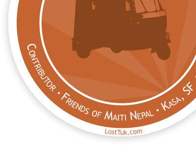LostTuk Sticker Icon orange tuk sticker icon