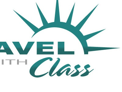 Travel With Class Refresh teal travel script