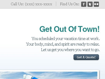 Get Out Of Town! travel teal
