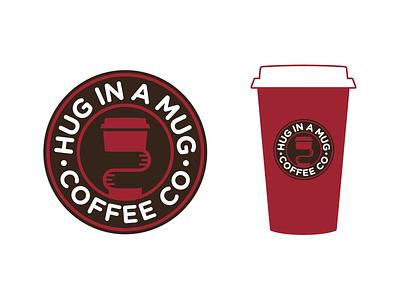Hug In A Mug Coffee Co. branding logo coffee