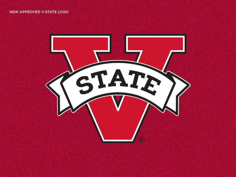 Valdosta State Athletic Mark typography type branding logo athletic