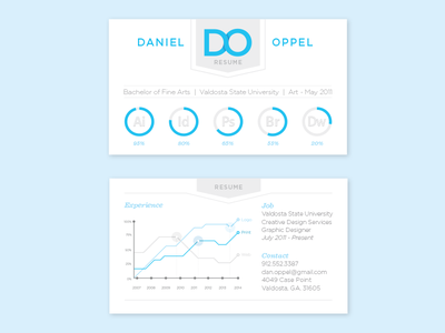 Resume - Business Card resume print design