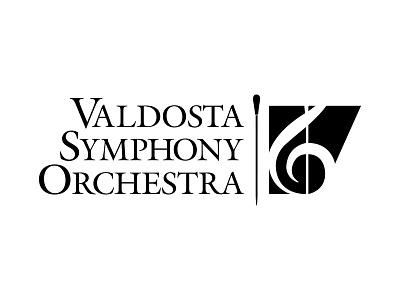 Valdosta Symphony Orchestra logo sypmphony music baton