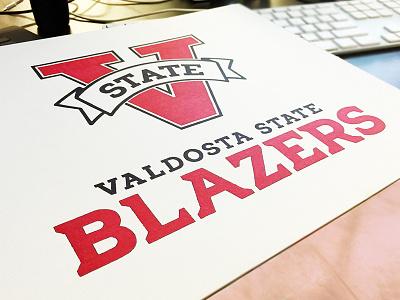 Valdosta State Athletics Logo typography type branding athletic logo