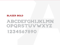 Blazer bold font2