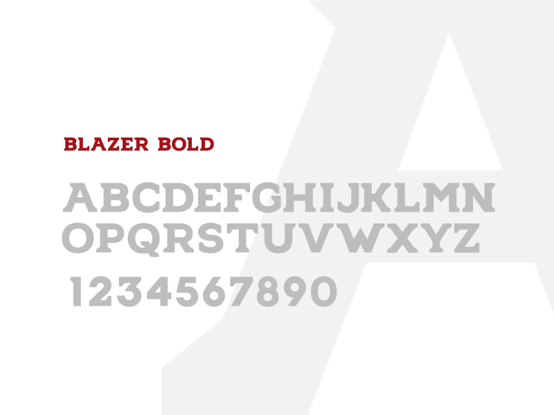 Blazer Bold Font athletic typography type font
