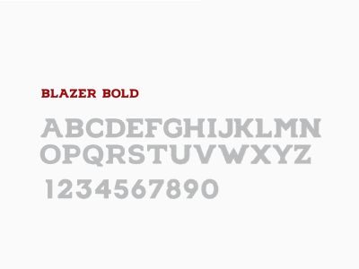 Blazer Bold Font athletic typography type font