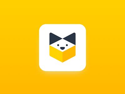 Petme dog cat pet ios yellow icon logo