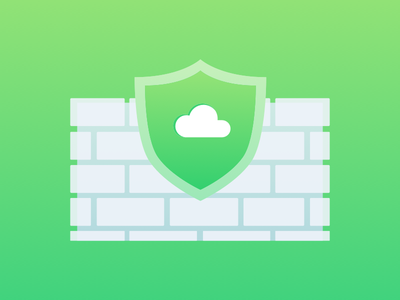 Safe cloud green icon host server network wall safe