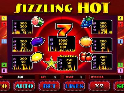 Играй в проверенном казино NetGame Casino в автомат Sizzling Hot logo branding illustration