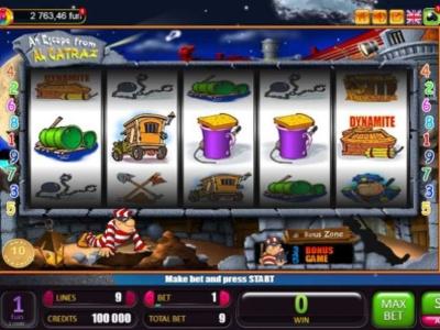 Играй в слот Alcatraz по ссылке бесплатно в казино SlotClub vector ui design