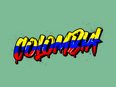 Colombia typography vector illustration graphic design