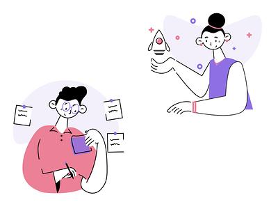 Illustration for a webiste art illustration