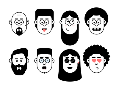 Faces illustraion face
