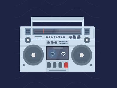 Tape Recorder vintage casette tape icon ux vector logo design illustraion