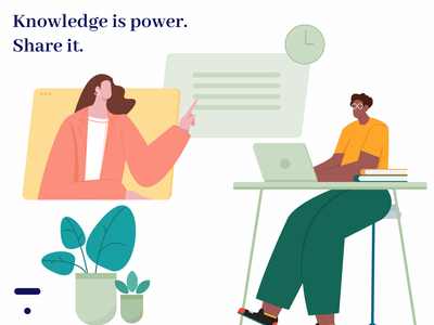 Knowledge is Power. Share it. art figma vector wfh illustration