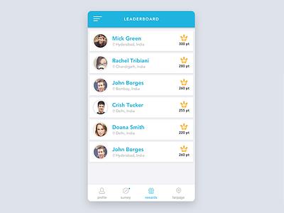 Leaderboard Design leaderboard mobile app