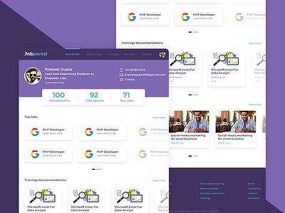 Job Portal purple ui web design